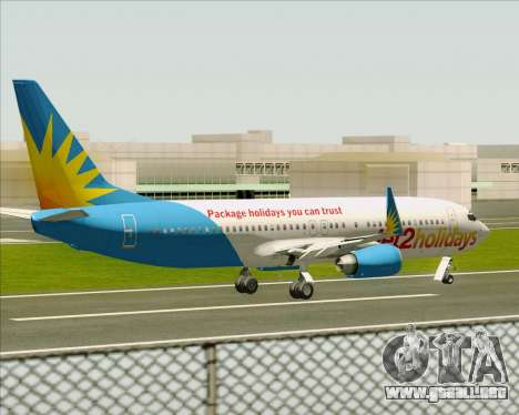 Boeing 737-800 Jet2Holidays para vista inferior GTA San Andreas