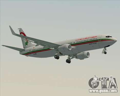 Boeing 737-8B6 Royal Air Maroc (RAM) para GTA San Andreas vista posterior izquierda