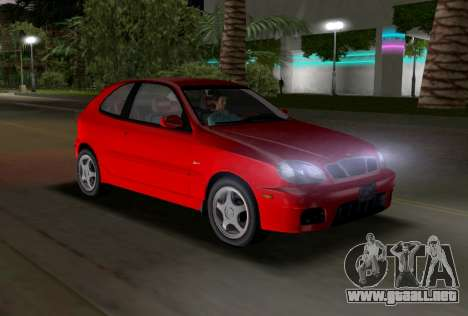 Daewoo Lanos Sport NOSOTROS 2001 para GTA Vice City vista interior