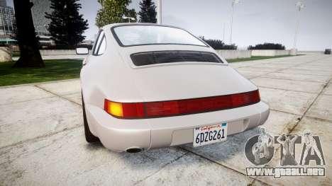 Porsche 911 (964) Coupe para GTA 4 Vista posterior izquierda
