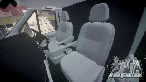 Ford Transit 2011 SuperSportVan para GTA 4 vista interior