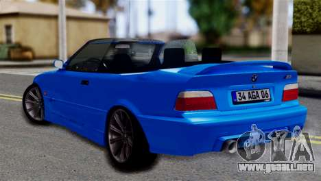 BMW M3 E36 Cabrio para GTA San Andreas left