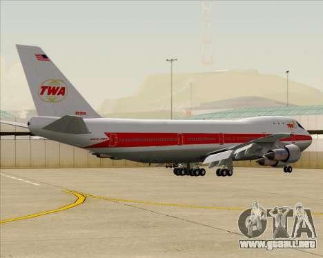 Boeing 747-100 Trans World Airlines (TWA) para GTA San Andreas