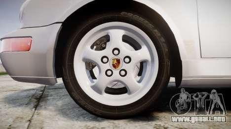Porsche 911 (964) Coupe para GTA 4 vista hacia atrás
