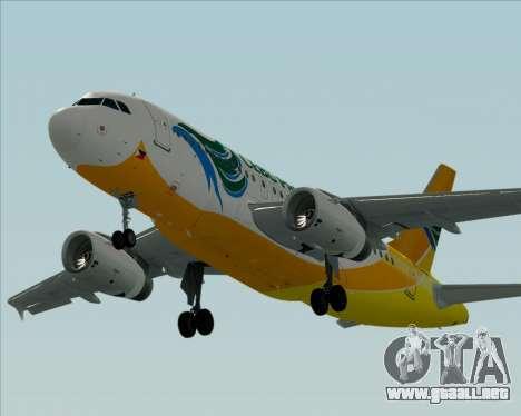 Airbus A319-100 Cebu Pacific Air para vista lateral GTA San Andreas