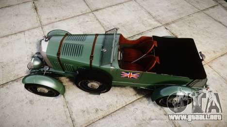 Bentley Blower 4.5 Litre Supercharged [low] para GTA 4 visión correcta