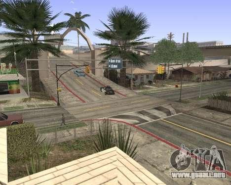 La textura de Los Santos de GTA 5 para GTA San Andreas segunda pantalla