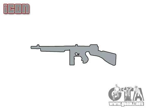 Subametralladora Thompson M1A1 cuadro icon1 para GTA 4 tercera pantalla