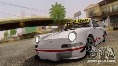 Porsche 911 Carrera 1973 Tunable KIT C para GTA San Andreas vista posterior izquierda