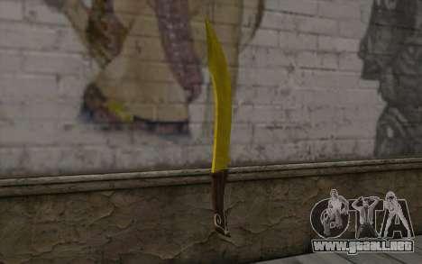 Cuchillo de oro para GTA San Andreas segunda pantalla