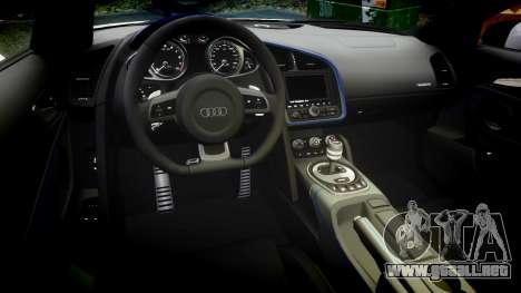 Audi R8 LMX 2015 [EPM] Sticker Bomb para GTA 4 vista interior