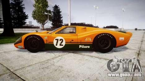 Ford GT40 Mark IV 1967 PJ Mudino 72 para GTA 4 left