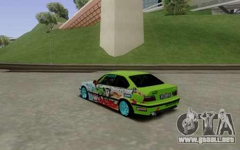 BMW E36 Bridgstone para GTA San Andreas vista posterior izquierda