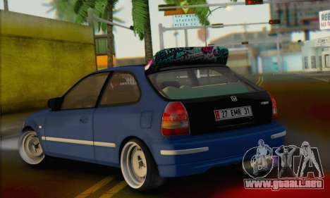 Honda Civic V Type EMR Edition para GTA San Andreas left