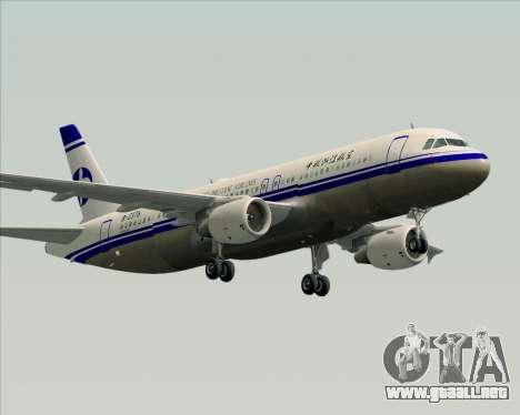 Airbus A320-200 CNAC-Zhejiang Airlines para la visión correcta GTA San Andreas