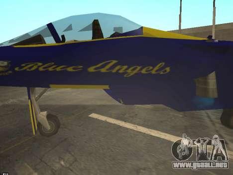BlueAngels Hydra para GTA San Andreas vista hacia atrás