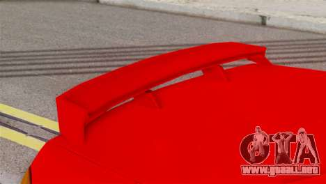 Honda CRX para GTA San Andreas vista posterior izquierda