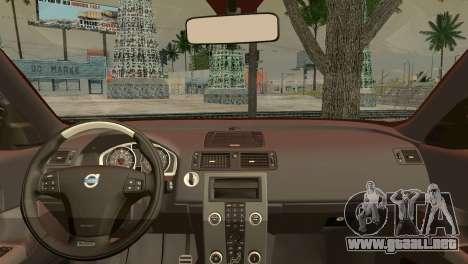 Volvo C30 Stanced para GTA San Andreas vista posterior izquierda
