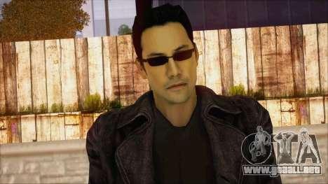 Neo Matrix Skin para GTA San Andreas tercera pantalla