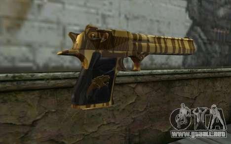 Desert Eagle Gold v1 para GTA San Andreas segunda pantalla