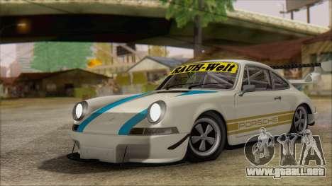 Porsche 911 Carrera 1973 Tunable KIT C para GTA San Andreas vista hacia atrás