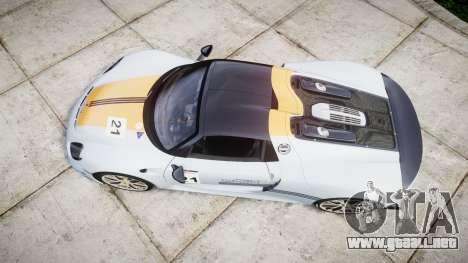 Porsche 918 Spyder 2014 Weissach para GTA 4 visión correcta