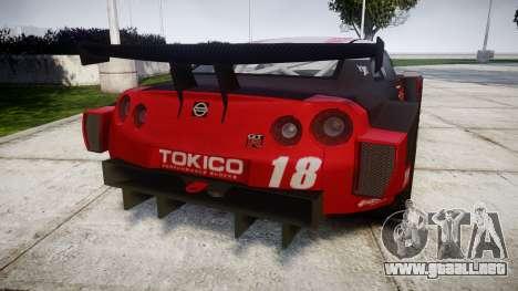 Nissan GT-R Super GT [RIV] para GTA 4 Vista posterior izquierda