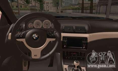 BMW M3 E46 StanceWork para GTA San Andreas vista posterior izquierda