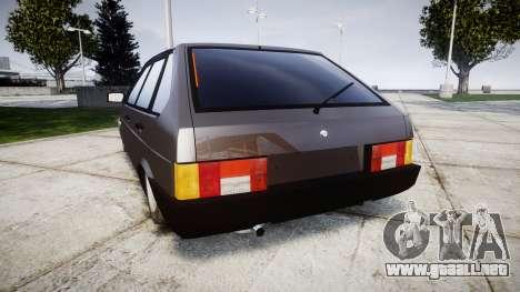 VAZ-2109 Nueve para GTA 4 Vista posterior izquierda