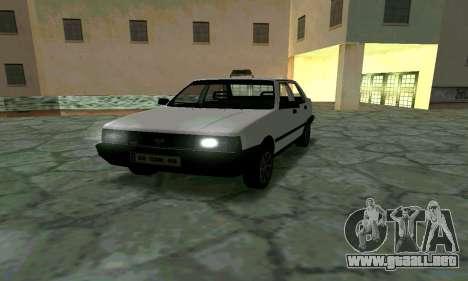 Tofas Sahin Taxi para GTA San Andreas vista hacia atrás