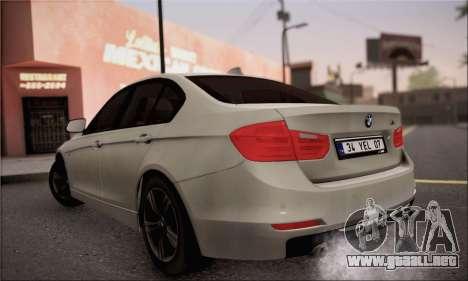 BMW F30 320d para GTA San Andreas left