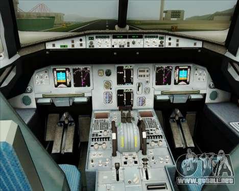Airbus A320-200 CNAC-Zhejiang Airlines para GTA San Andreas interior