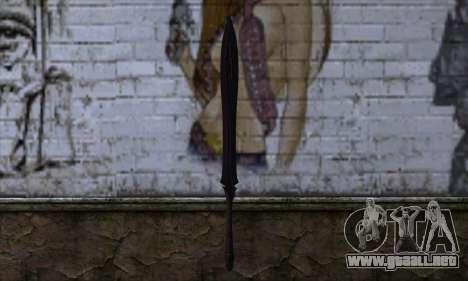 Unnamed Sword para GTA San Andreas segunda pantalla