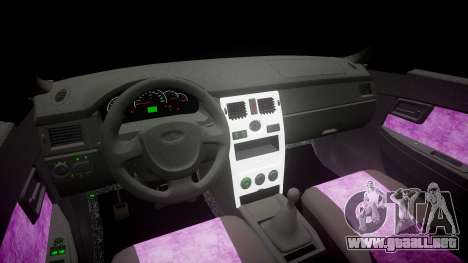 ВАЗ-2170 Instalado Priora de Calidad v2.0 para GTA 4 vista interior