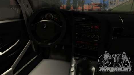 BMW M3 E36 Bucale Drift para GTA San Andreas vista posterior izquierda
