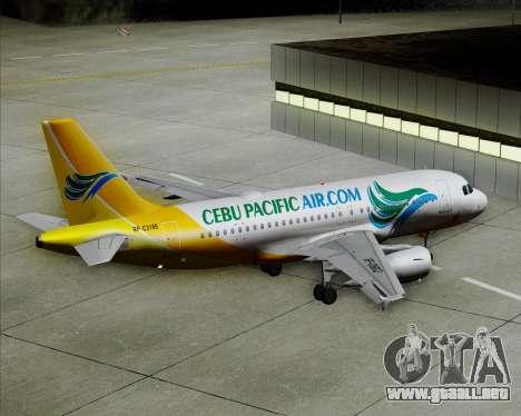 Airbus A319-100 Cebu Pacific Air para las ruedas de GTA San Andreas