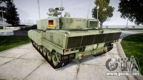 Leopard 2A7 DE Green para GTA 4 Vista posterior izquierda