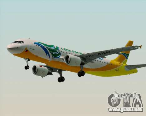 Airbus A320-200 Cebu Pacific Air para GTA San Andreas left