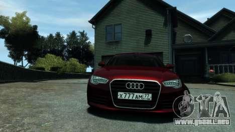 Audi A6 2012 para GTA 4 Vista posterior izquierda