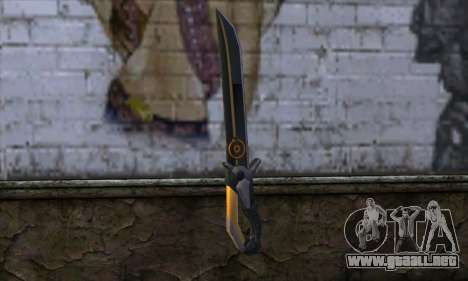 Olga Knife from Remember Me para GTA San Andreas segunda pantalla