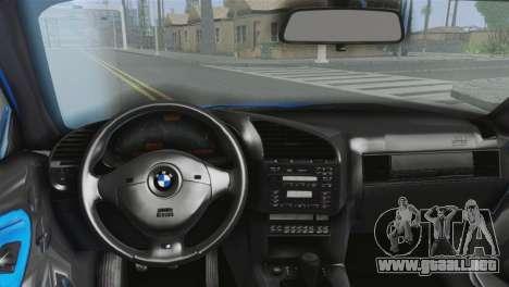 BMW M3 E36 Cabrio para GTA San Andreas vista posterior izquierda