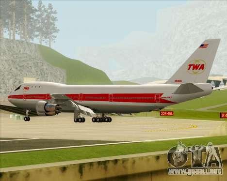 Boeing 747-100 Trans World Airlines (TWA) para las ruedas de GTA San Andreas