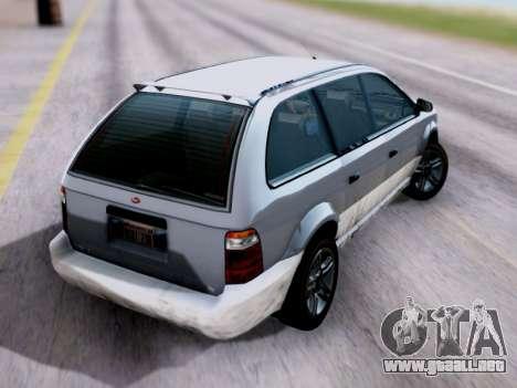 GTA V Minivan para GTA San Andreas left