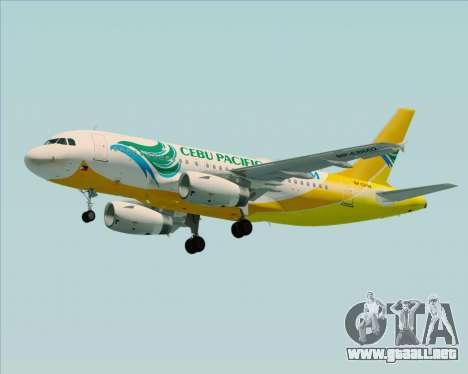 Airbus A319-100 Cebu Pacific Air para el motor de GTA San Andreas