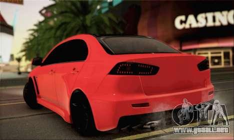 Mitsubishi Lancer Evo X para GTA San Andreas left