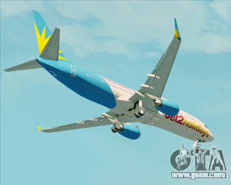 Boeing 737-800 Jet2Holidays para la vista superior GTA San Andreas