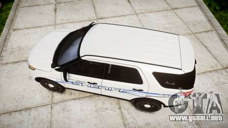 Ford Explorer 2013 [ELS] Liberty County Sheriff para GTA 4 visión correcta