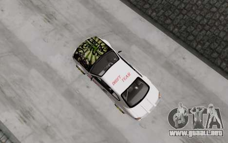 Nissan Silvia S15 VCDT para GTA San Andreas vista hacia atrás