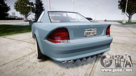 Benefactor Schafter Gen. 1 Grey Series para GTA 4 Vista posterior izquierda