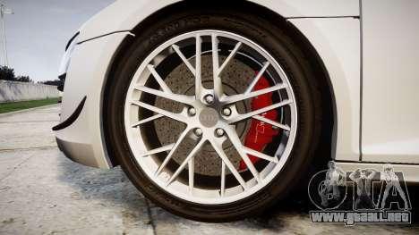 Audi R8 LMX 2015 [EPM] v1.3 para GTA 4 vista hacia atrás